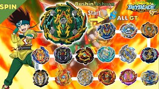 【Bushin Ashura VS ALL GT】marathon Beyblade Burst DB GT 베이블레이드 버스트 진검 무신 아수라 VS 올 진검 GT 마라톤 배틀
