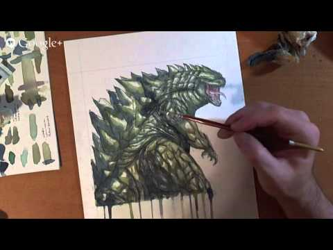 SketchCraft Live!: Lets Draw & Watercolor Godzilla