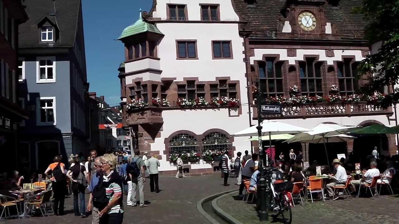 City Centre Freiburg Germany YouTube