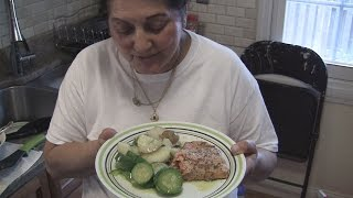 Angelo's Mom Makes Salmon, Potatoes, And Zucchini