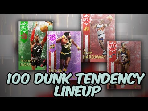 100 DUNK TENDENCY LINEUP!! FOUL OUT GLITCH!! THIS MUST BE STOPPED! NBA 2K18 MYTEAM GAMEPLAY!