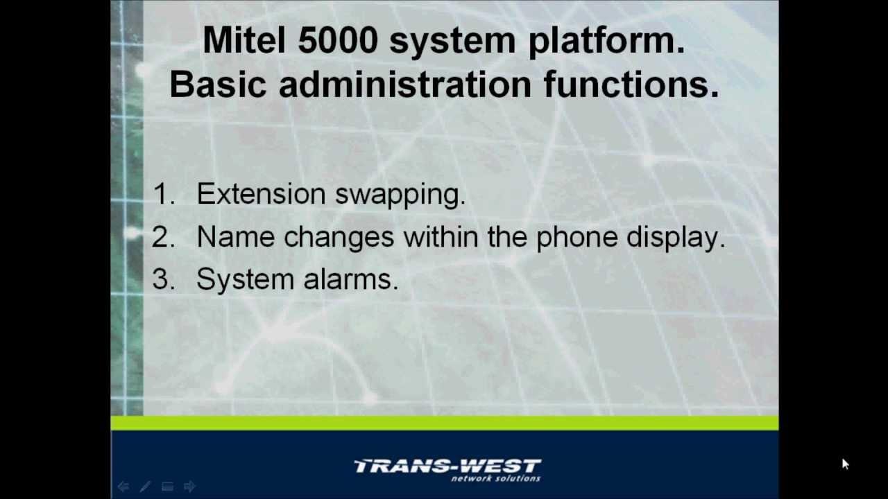 Basic Mitel 5000 Administration - Using Telephone