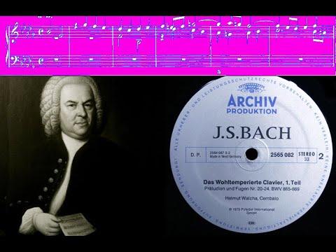 JS Bach / Helmut Walcha, 1973: Prelude and Fugue in B-flat minor BWV 867