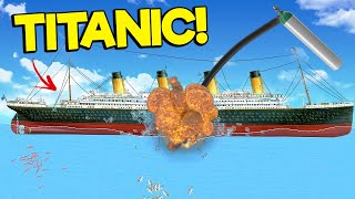 I Pumped Air Into The Titanic Until It EXPLODED In The NEW UPDATE In Floating Sandbox!