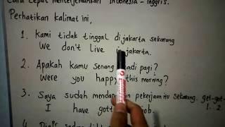 Download Video Belajar bahasa inggris, Cara cepat menterjemahkan bahasa indonesia-inggris MP3 3GP MP4