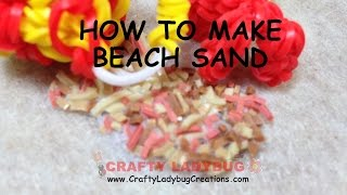 New Rainbow Loom Band Beach Sand Easy Charm Tutorials By Crafty Ladybug /how To Diy