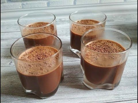 Шоколадно-молочное ЖЕЛЕ за 10 минут