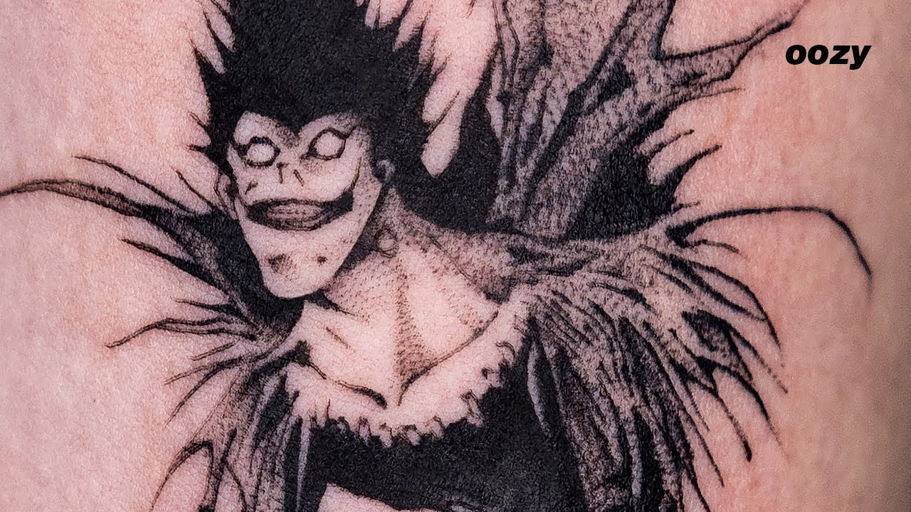 Death Note Ryuk Time Lapse Oozy Youtube
