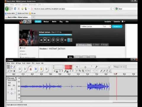 telecharger de la musique sur deezer avec audacity