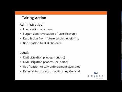 Conducting Security Investigations - Caveon Webinar