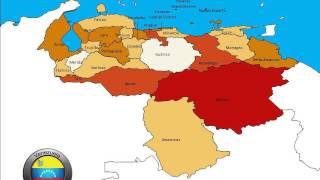 Venezuela Presentation Map Templates