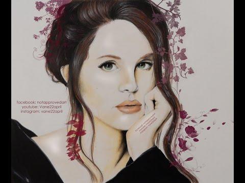🖌 Lana del Rey drawing/fanart (speed paint)