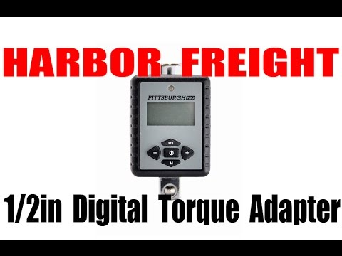 HARBOR FREIGHT: Digital Torque Wrench Adapter