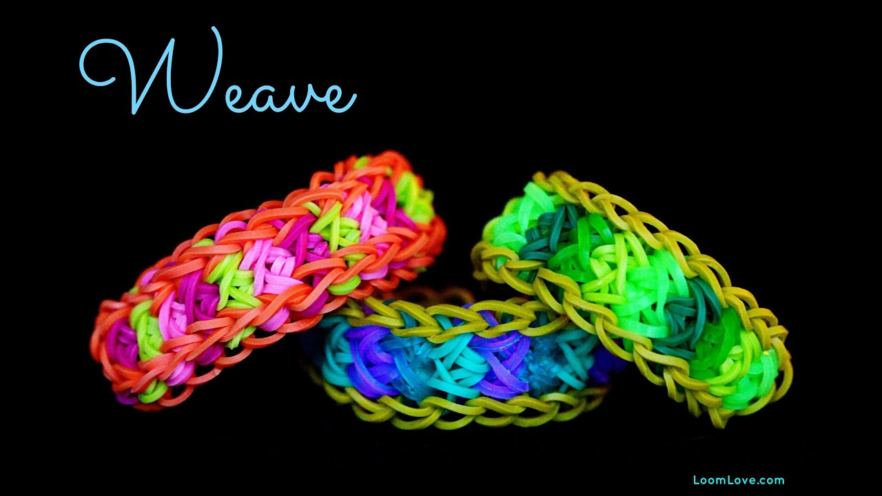 How To Make The Basket Weave Rainbow Loom : How to make the rainbow loom weave bracelet