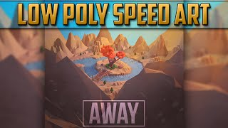 Low Poly Mysterious Island Speed Art | Cinema 4D, Photoshop
