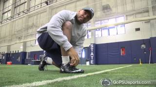 Penn State Football 2014 - Coach Gattis Runs A 40