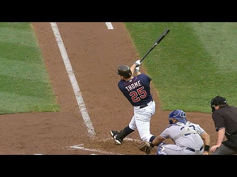 Jim Thome crushes a mammoth home run at Target Field