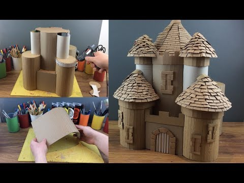 Easy How To Make a Giant Paper/Cardboard Fantasy Castle
