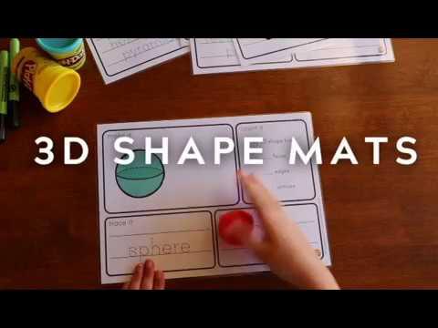 3d Shape Playdough Mats Youtube