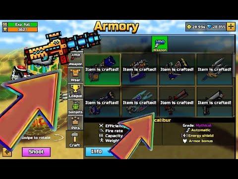 pixel weapon craft 3d