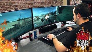 ZOCKEN auf DREI 4K-Monitoren - BF1, Witcher 3 & GTA 5 - Höllenmaschine 8 | #Gaming-PC