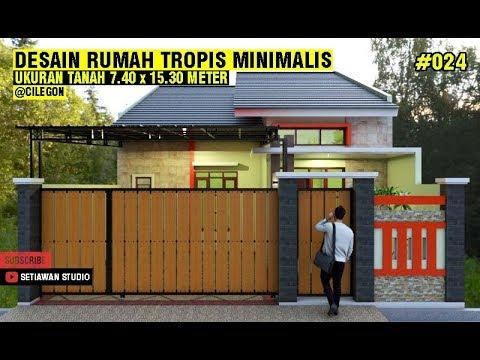 desain rumah 7x15 meter minimalis tropis dengan 3 kamar