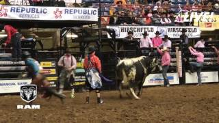 Bullrider Chase Robbins' 85-Point Bull Ride at the 2017 San Angelo Rodeo
