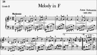 Piano Pieces for Children Grade 2 No.16 Rubinstein Melody in F (P.28) Sheet Music