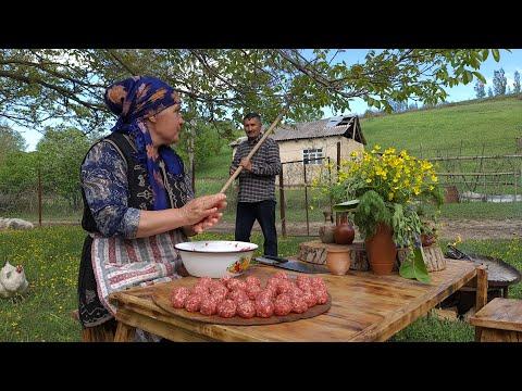 The Best Homemade Pasta With Meatballs, Köftəli Makaron, Outdoor Cooking