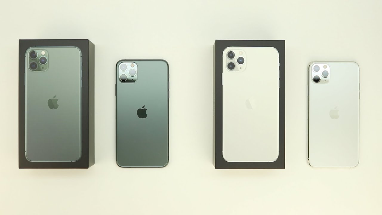 Apple iPhone 11 Pro Max Unboxing And First Impressions! Midnight  Green/Silver!