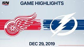 NHL Highlights   Red Wings vs. Lightning - Dec. 29, 2019