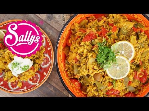 Gemüse-Reispfanne mit Joghurtsoße / vegetarisch / Sallys Welt