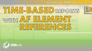 OSIsoft: RtReports التعليمي - الوقت-على أساس التقارير مع AF عنصر (المعدات) المراجع