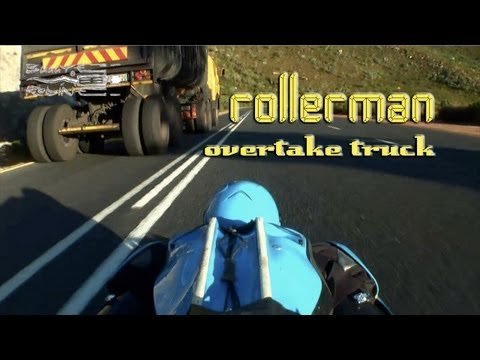 Downhill Extreme : Rollerman overtake truck in South Africa