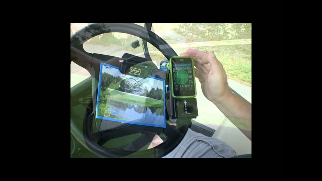 Golf Cart Velcro Holder For Your Gps Cell Phone Or Ipod
