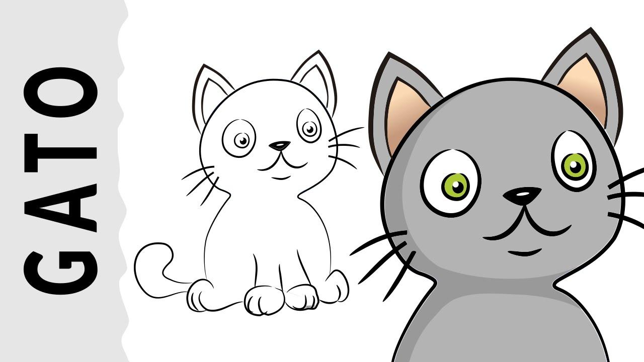 Como Dibujar Un Gato 1 Paso A Paso Con Dibujart Com Youtube