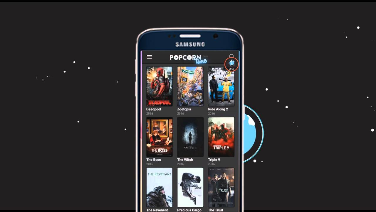how to keep movie watch in popcorn time