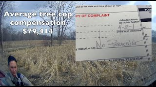 Tree Cops of Cook county IL write bogus ticket - Caught on Dash Cam