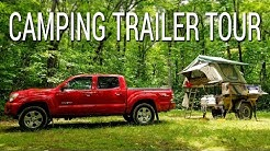 Homemade camping trailer tour