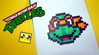 Рисуем по клеточкам-Черепашки-ниндзя (Teenage Mutant Ninja Turtles )PIXEL ART