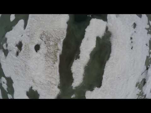 Drone Barrow AK Ice in Summer Chukchi Sea