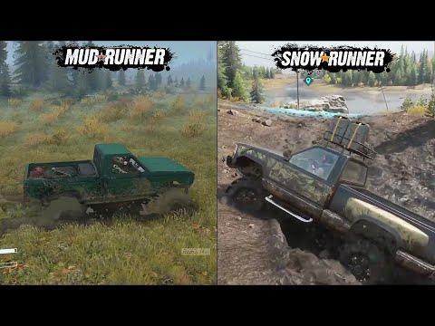 SnowRunner Vs MudRunner Comparision   Gameplay Features