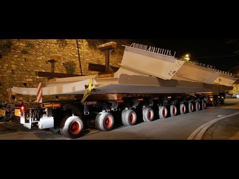 Trasporto eccezionale nuovo Ponte che sostituisce il Morandi (Seconda Parte)