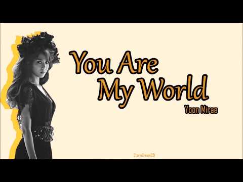 Yoon Mi Rae - You Are My World Lyrics English Subs The Legend Of The Blue Sea OST