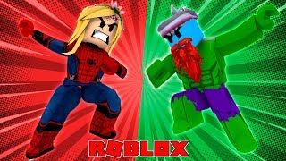 LITTLE KELLY VS SHARKY, THE HULK TAKES ON SPIDERMAN !! Sharky Roblox