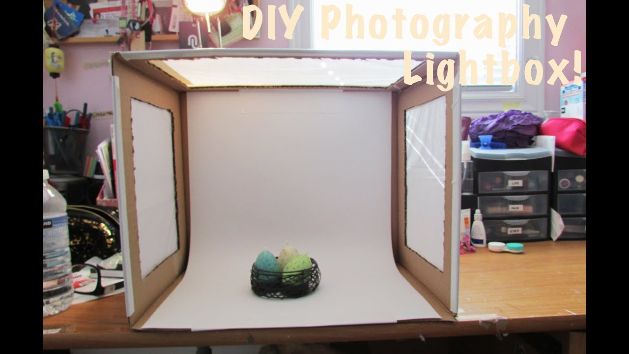 how to diy photo light box youtube. Black Bedroom Furniture Sets. Home Design Ideas