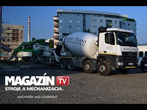 Mercedes-Benz AROCS 3540 & PUTZMEISTER IMI 9.1 Delivery of concrete
