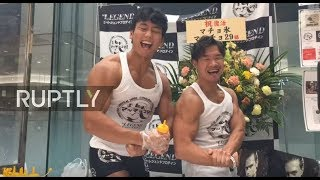 LIVE  They've got the goods! See Tokyo's muscular kakigori makers in action