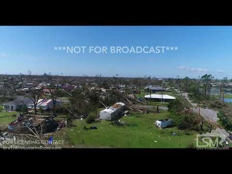 10 11 18 Callaway, FL Aerial Views Of Massive Wind Damage