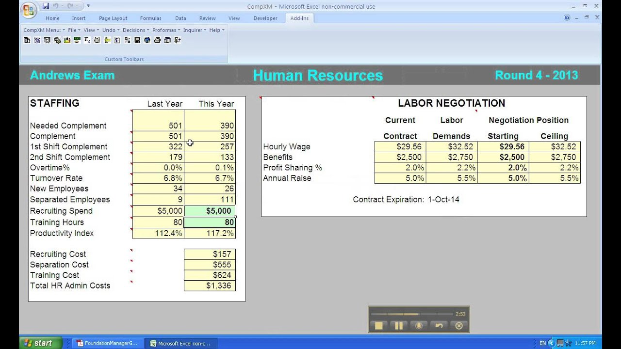 Capsim-Human Resources